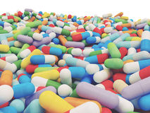 Colorful Vitamin Tablet - 3D illustration Stock Photo