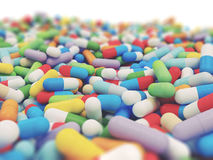 Colorful Vitamin Tablet Stock Images
