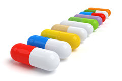 Colorful Vitamin Tablet Royalty Free Stock Photos