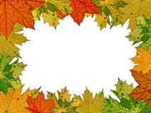 Colorful vivid autumnal frame Stock Photos