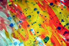 Colorful vivid energetic spots texture paint watercolor spots Royalty Free Stock Image