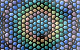Colorful vivid mosaic abstract background with polygons. Colorful vivid mosaic abstract background. hexagonal pattern of yellow, orange, blue, green and purple vector illustration