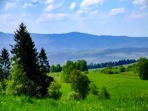 View on Gorczański National Park in Poland royalty free stock photography