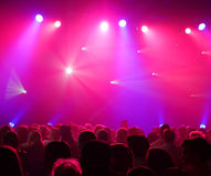 Colorful and vivid stage spotlight background. Colorful and vivid stage spotlight on stage background stock image