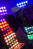 Colorful and vivid stage spotlight background Stock Photography