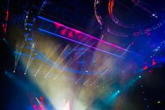 Colorful and vivid stage spotlight Stock Photography