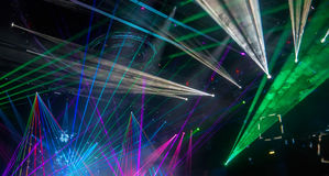 Colorful and vivid stage spotlight. On stage background Stock Photo