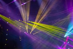 Colorful and vivid stage spotlight. On stage background Royalty Free Stock Images