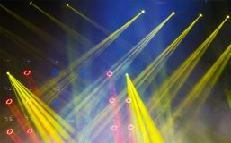 Colorful and vivid stage spotlight. On stage background Stock Photos