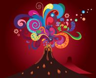 Colorful volcanic abstract Royalty Free Stock Image