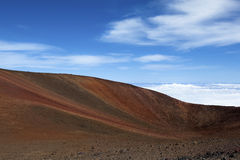 Colorful volcanic crater Stock Photo