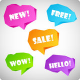 Colorful volume speech balloons of paper Royalty Free Stock Photography