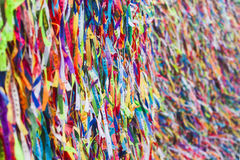Colorful votive ribbons Royalty Free Stock Image