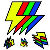 Wacky Lightning Bolts stock illustration