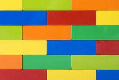 Colorful wall. A close up of a wall with many colors Stock Photography
