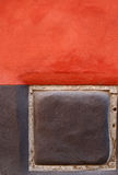 Colorful wall. Wall painted in red and gray Stock Photos