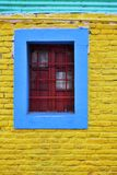 Colorful Wall And Grilled Window Royalty Free Stock Photo
