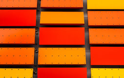 Colorful wall background. Colorful wall with yellow orange & red Royalty Free Stock Photos