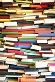 Colorful wall of books Royalty Free Stock Images