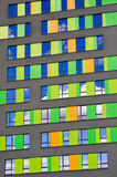 Colorful wall of the building Stock Image