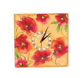 Colorful wall clock. Stock Photos