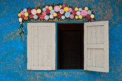 Colorful wall decoration stock images