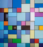 Colorful wall design royalty free stock images