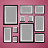 Colorful Wall with empty Picture Frame Royalty Free Stock Images