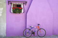 Colorful wall, Murano, Italy Stock Photography