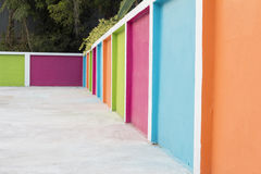 A colorful wall. In the school Stock Image