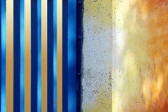 Colorful wall with steel struts Royalty Free Stock Image
