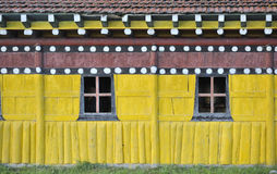 Colorful wall of Tibetan Buddhist monastery Royalty Free Stock Image