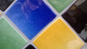 Colorful wall tiles Stock Images