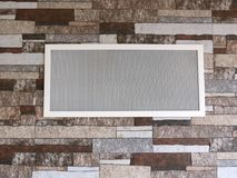 Wall and ventilation window, Lithuania Stock Image