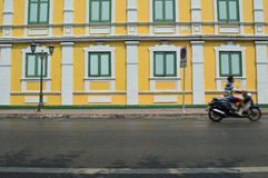 Colorful wall and windows. Architecture view Stock Photography