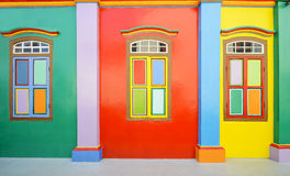 Colorful wall and windows Stock Photo