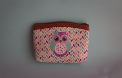 Colorful wallet with image of owl royalty free stock photos