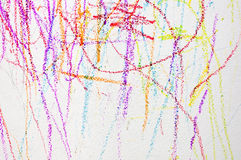The colorful of wallpaper by crayon color. art for child Royalty Free Stock Photo