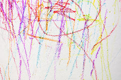 The colorful of wallpaper by crayon color. art for child Stock Images