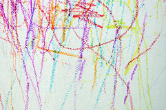 The colorful of wallpaper by crayon color. art for child Royalty Free Stock Photography