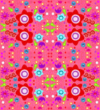 Colorful Wallpaper Design (seamless) Stock Photography