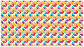 Colorful Wallpaper stars triangles shapes geometric Royalty Free Stock Image