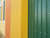 Colorful walls and doors in old san juan Stock Image