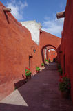 Colorful walls inside of monastery of St. Catherine at Arequipa, Stock Photography
