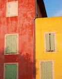 Colorful walls of Roussillon, France Stock Images