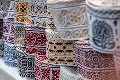Colorful wares on sale in a traditional Omani Suq Market. In Muscat - 4 Royalty Free Stock Photography