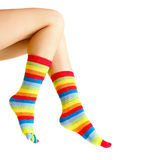 Colorful warm sock Royalty Free Stock Photo