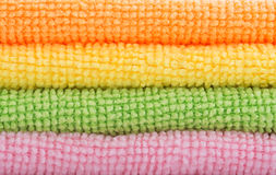 Colorful wash cloths Stock Photography