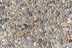 Colorful washed concrete slab for road construction and road construction royalty free stock photography