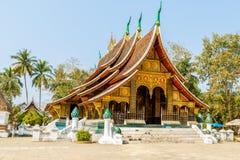 Colorful Wat Xieng thong temple in Luang pra bang Loas Stock Photo